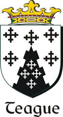 Thumbnail Teague Family Crest / Irish Coat of Arms Image Download
