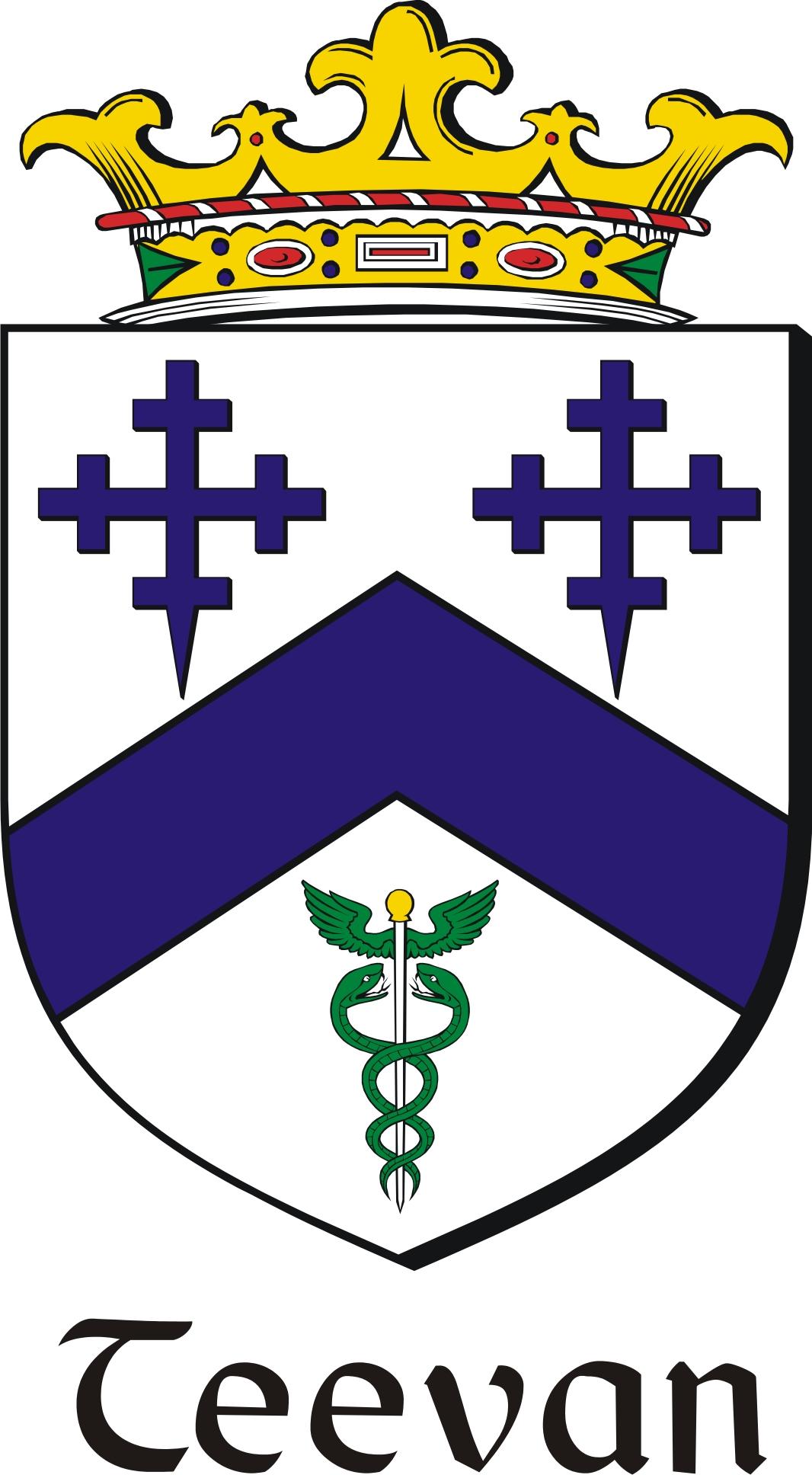 Thumbnail Teevan Family Crest / Irish Coat of Arms Image Download