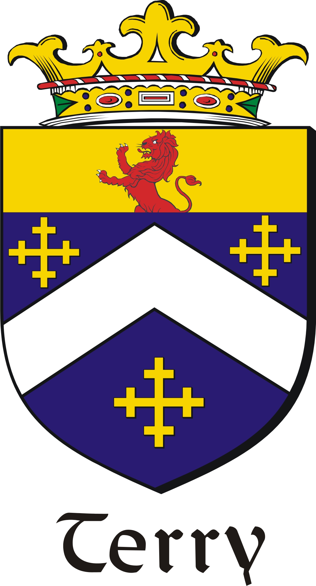 Thumbnail Terry Family Crest / Irish Coat of Arms Image Download