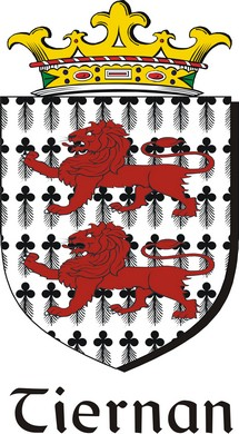 Thumbnail Tiernan Family Crest / Irish Coat of Arms Image Download