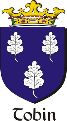 Thumbnail Tobin Family Crest / Irish Coat of Arms Image Download