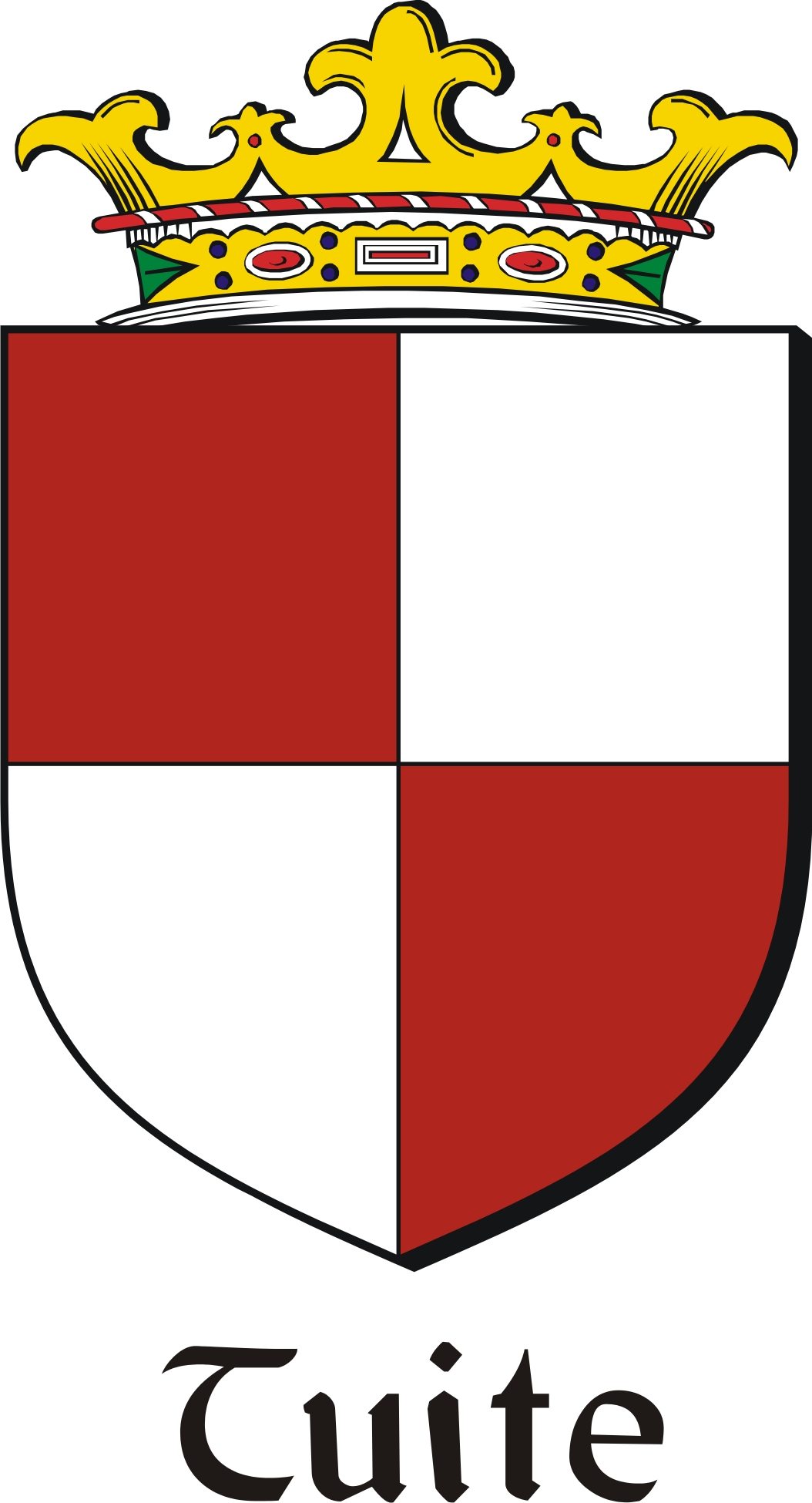 Thumbnail Tuite Family Crest / Irish Coat of Arms Image Download