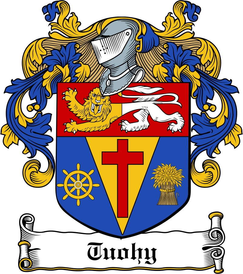 Thumbnail Tuohy Family Crest / Irish Coat of Arms Image Download
