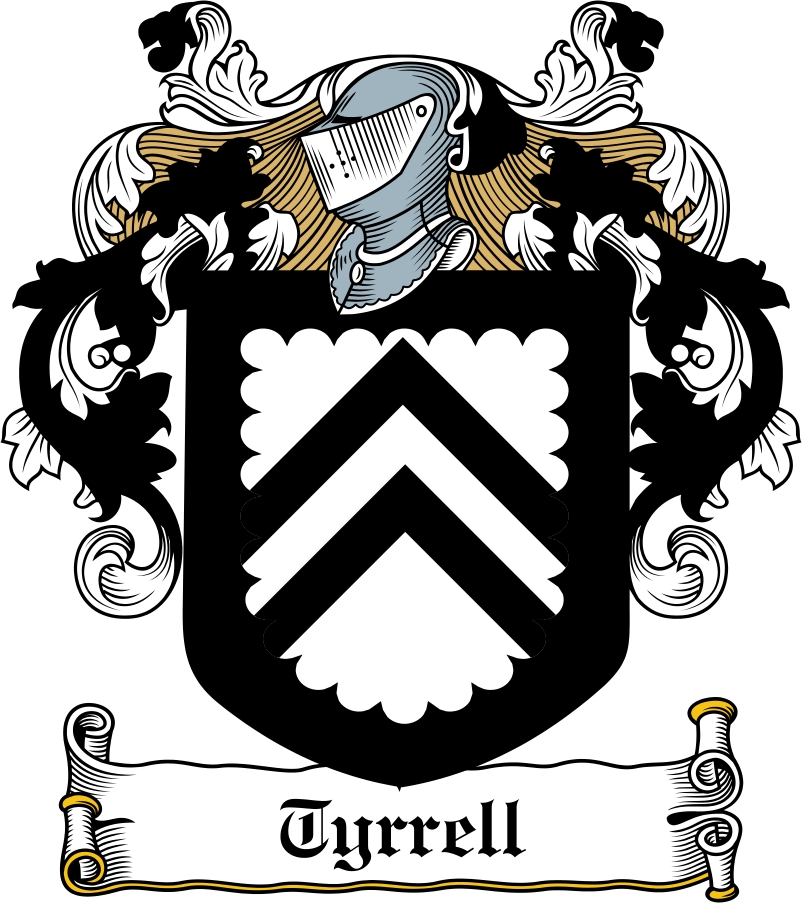 Thumbnail Tyrrell Family Crest / Irish Coat of Arms Image Download