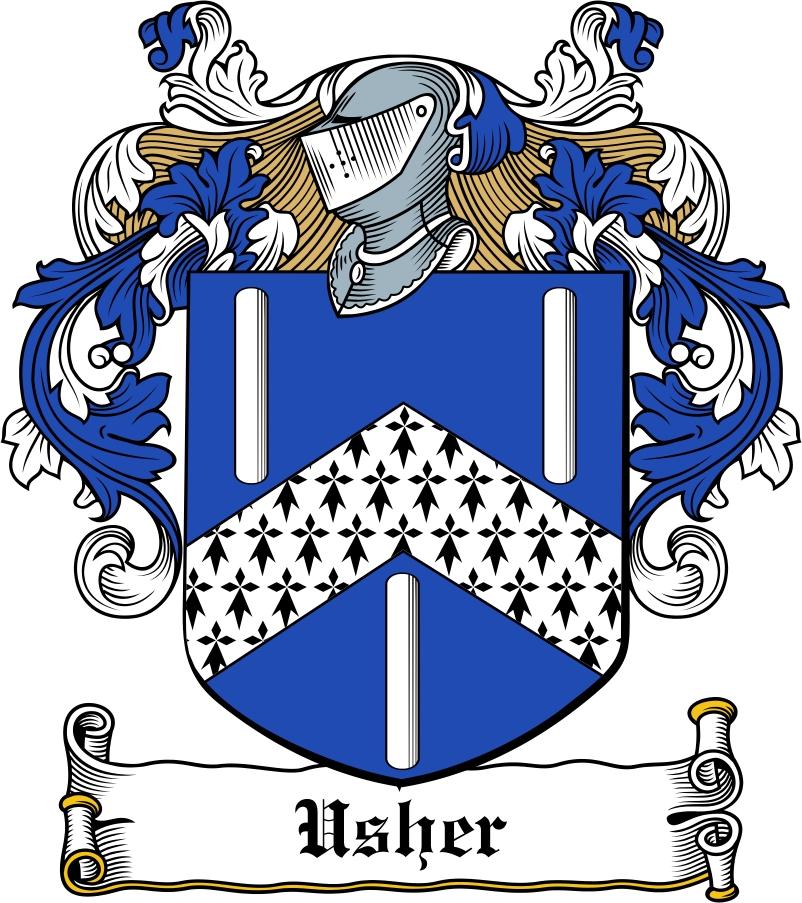 Thumbnail Usher Family Crest / Irish Coat of Arms Image Download