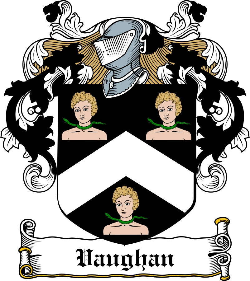 Thumbnail Vaughan Family Crest / Irish Coat of Arms Image Download