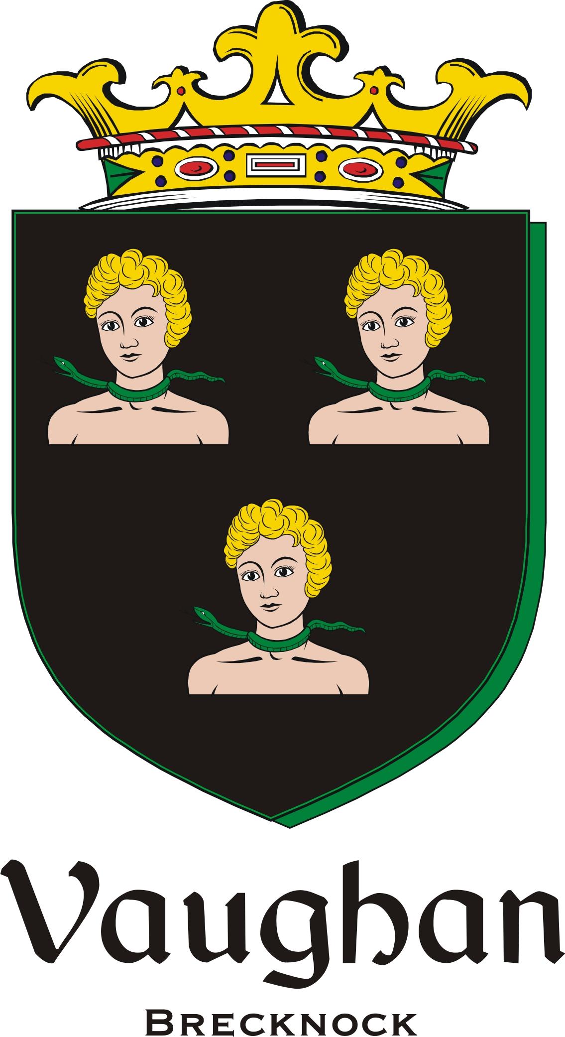 Thumbnail Vaughan2 Family Crest / Irish Coat of Arms Image Download
