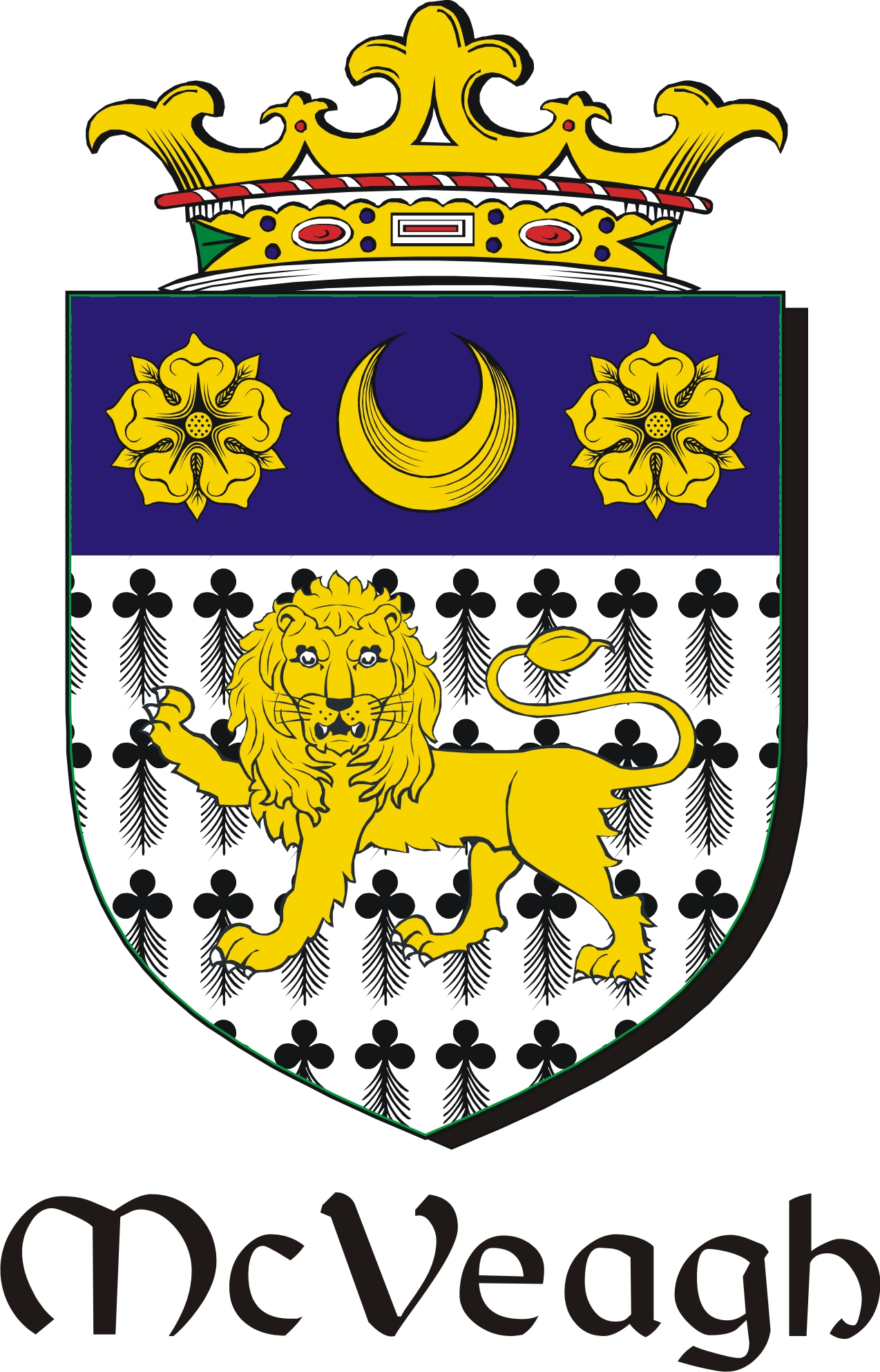 Thumbnail Veagh-Mc Family Crest / Irish Coat of Arms Image Download