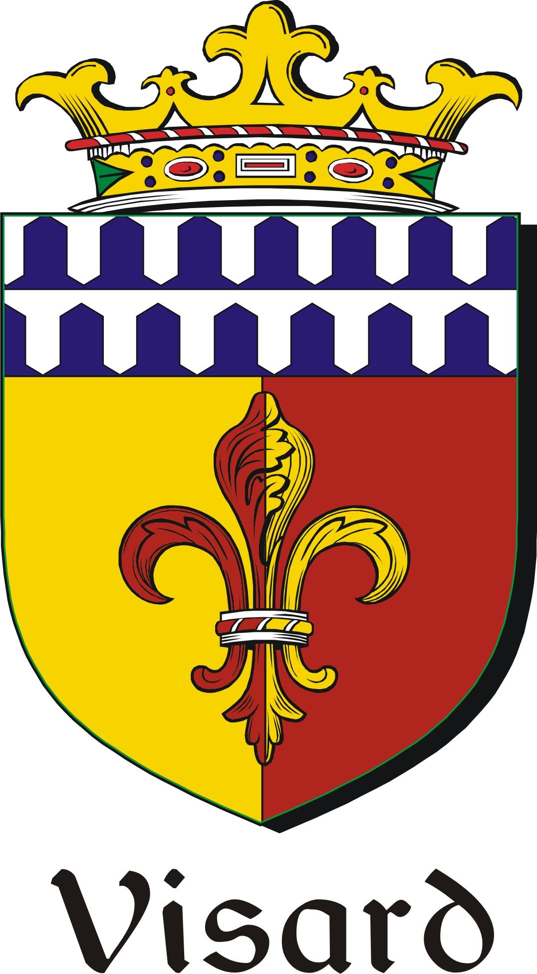 Thumbnail Visard Family Crest / Irish Coat of Arms Image Download