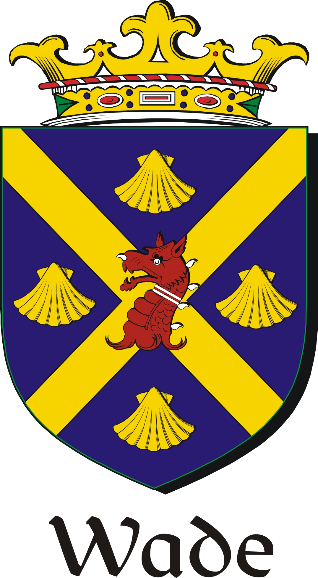 Thumbnail Wade Family Crest / Irish Coat of Arms Image Download