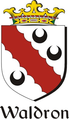 Thumbnail Waldron Family Crest / Irish Coat of Arms Image Download