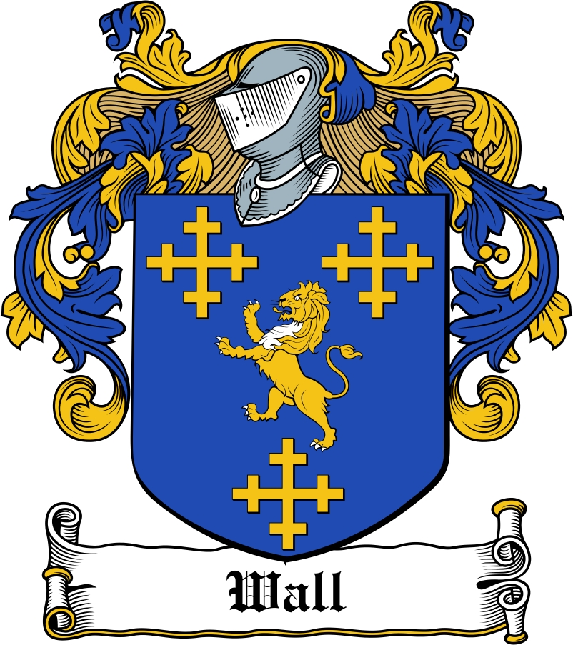 Thumbnail Wall Family Crest / Irish Coat of Arms Image Download