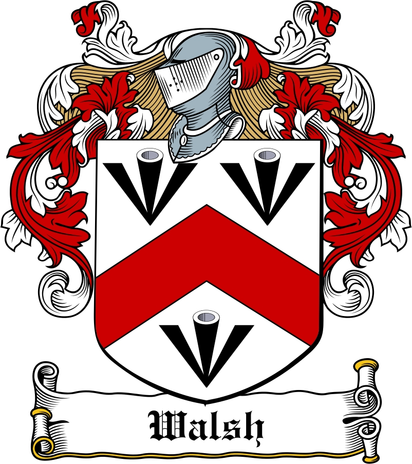 Thumbnail Walsh Family Crest / Irish Coat of Arms Image Download