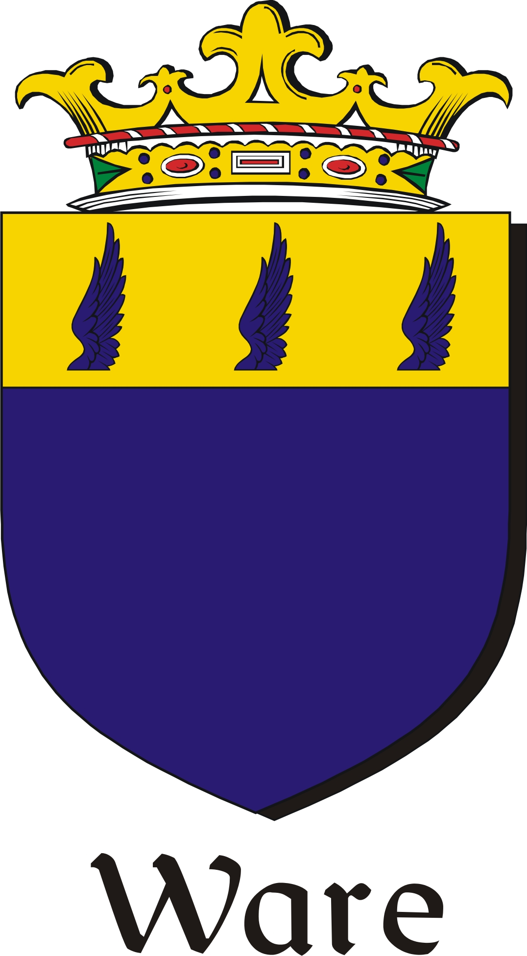 Thumbnail Ware Family Crest / Irish Coat of Arms Image Download
