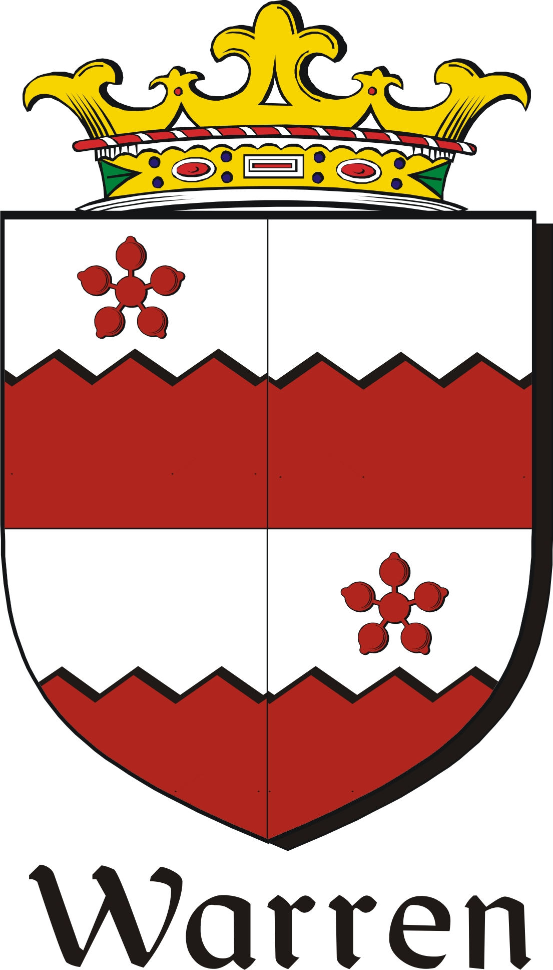 Thumbnail Warren-2 Family Crest / Irish Coat of Arms Image Download