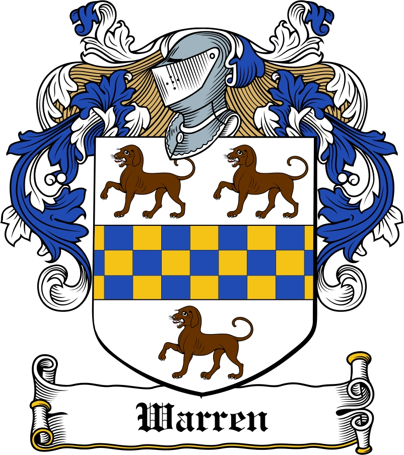 Thumbnail Warren Family Crest / Irish Coat of Arms Image Download