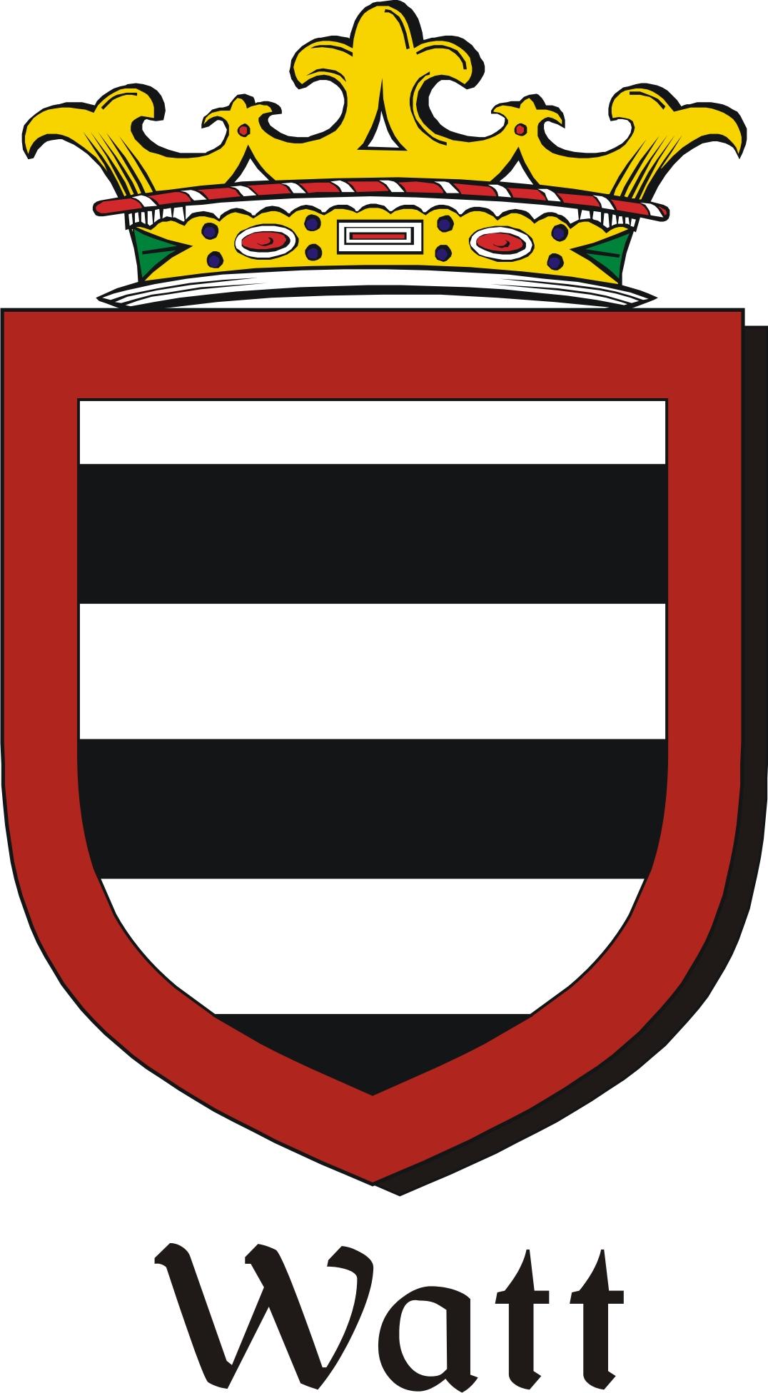 Thumbnail Watt Family Crest / Irish Coat of Arms Image Download
