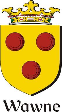 Thumbnail Wawne Family Crest / Irish Coat of Arms Image Download