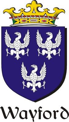Thumbnail Wayford Family Crest / Irish Coat of Arms Image Download