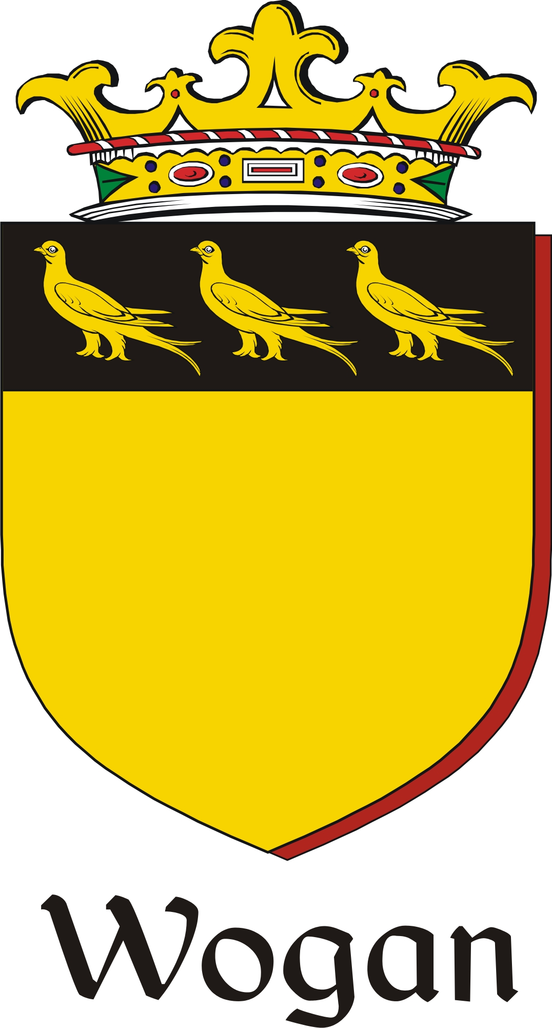 Thumbnail Wogan Family Crest / Irish Coat of Arms Image Download