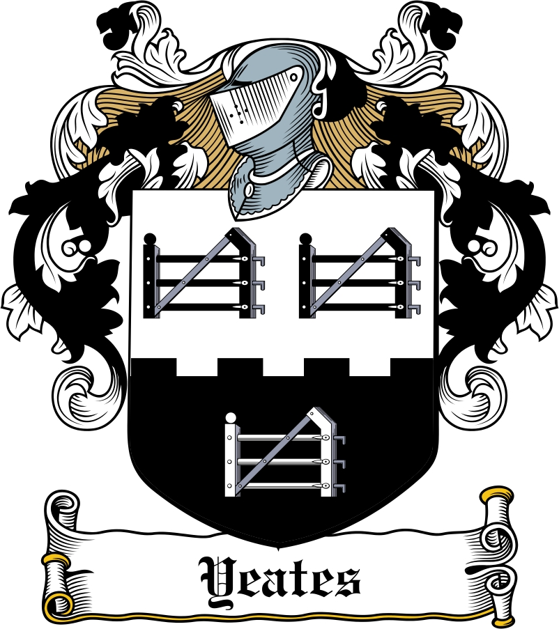 Thumbnail Yeates Family Crest / Irish Coat of Arms Image Download