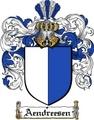 Thumbnail Aendreesen Family Crest  Aendreesen Coat of Arms