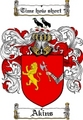 Thumbnail Akins Family Crest  Akins Coat of Arms