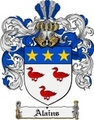 Thumbnail Alains Family Crest  Alains Coat of Arms
