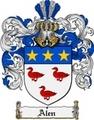 Thumbnail Alen Family Crest  Alen Coat of Arms