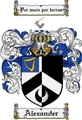Thumbnail Alexander Family Crest Alexander Coat of Arms Digital Download
