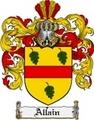 Thumbnail Allain Family Crest  Allain Coat of Arms