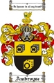 Thumbnail Ambroyse Family Crest  Ambroyse Coat of Arms