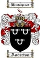 Thumbnail Anderton Family Crest Anderton Coat of Arms Digital Download