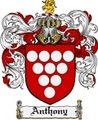 Thumbnail Anthony Family Crest Anthony Coat of Arms Digital Download