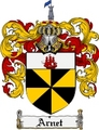 Thumbnail Arnet Family Crest Arnet Coat of Arms Digital Download