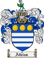 Thumbnail Atkins Family Crest Atkins Coat of Arms Digital Download