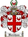 Thumbnail Barnham Family Crest Barnham Coat of Arms Digital Download