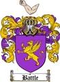 Thumbnail Battle Family Crest  Battle Coat of Arms