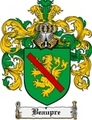 Thumbnail Beaupre Family Crest Beaupre Coat of Arms Digital Download