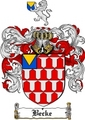 Thumbnail Becke Family Crest  Becke Coat of Arms