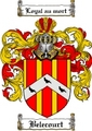 Thumbnail Belecourt Family Crest Belecourt Coat of Arms Digital Download