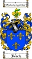 Thumbnail Berch Family Crest  Berch Coat of Arms