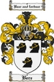 Thumbnail Bere Family Crest Bere Coat of Arms Digital Download