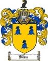Thumbnail Bleu Family Crest  Bleu Coat of Arms