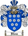 Thumbnail Blom Family Crest  Blom Coat of Arms
