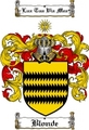 Thumbnail Blonde Family Crest  Blonde Coat of Arms