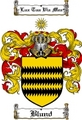 Thumbnail Blund Family Crest  Blund Coat of Arms