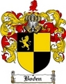 Thumbnail Boden Family Crest  Boden Coat of Arms