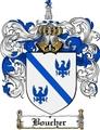Thumbnail Boucher Family Crest  Boucher Coat of Arms