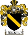 Thumbnail Braddene Family Crest  Braddene Coat of Arms